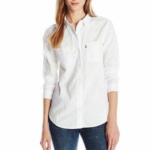 Levis white button up oxford shirt